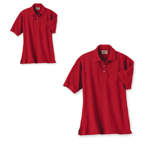 MEN/'S WEARGUARD WEARTUFF PIQUE POLO SHIRT SHORT SLEEVE RED S,M.L,XL,4XL,5XL