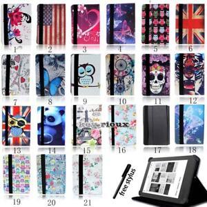 Folio-Stand-Pelle-Cover-Custodia-Per-Vari-6-034-7-034-10-1-034-Kobo-eReader-Tablet