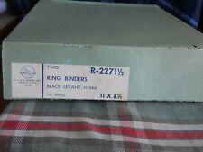 2 Vintage Vernon Royal Line Black Flexible 3 Ring Binders 11 X 85 1 12 Ring