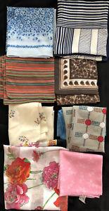 Lot-of-8-Vtg-Polyester-Scarves-Scarf-Wear-Repurpose