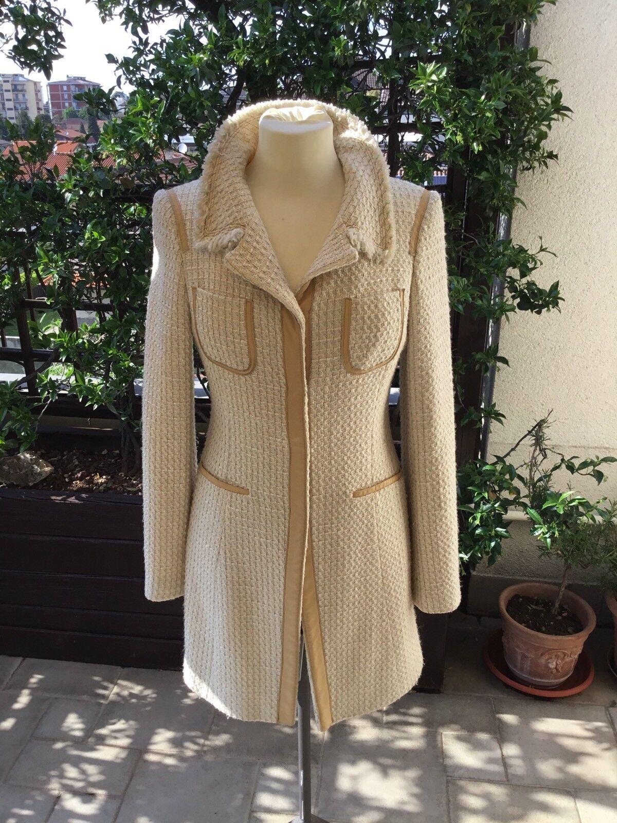c9fec980bc834 PINKO soprabito Spolverino Donna Tg 44( Veste Piccolo) Woman Coat