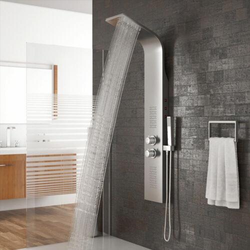LED Regendusche Duscharmatur Dusche Duschpaneel Wasserfall Duschsäule Thermostat