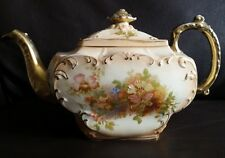 Antique Ornate Gold Gilded & Hand Crafted  Victorian English Bone China Teapot