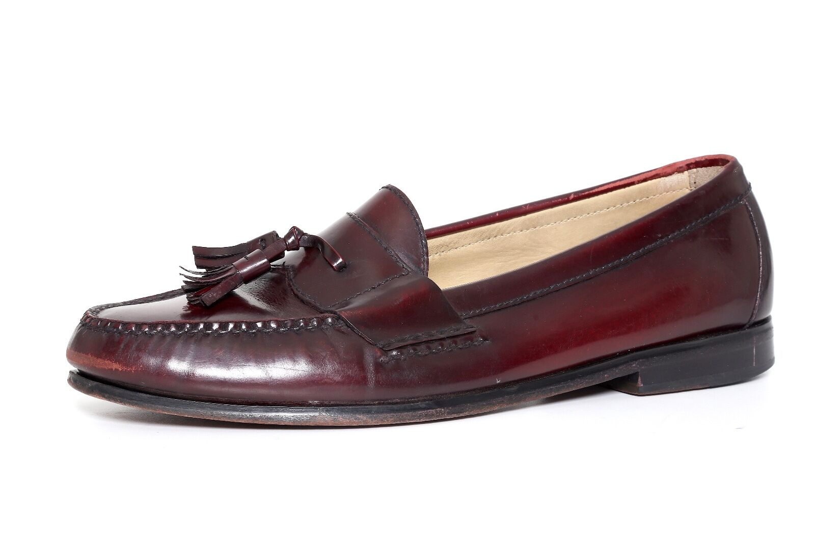 Cole Haan Men's Pinch Tassel Leather Loafers Burgundy 4648 Sz 10 M