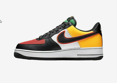 Nike Air Force 1 Low Sunburst Ck9282 100 White Black Lucid Green