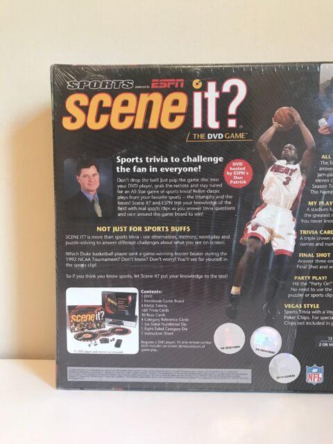 Sports Espn Scene It The Dvd Board Game Trivia Family Fun 2 Players For Sale Online Ebay