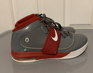 Nike Lebron James Zoom Soldier IV 407630-004 HighTop Mens 11 Grey/Red 2010 Strap