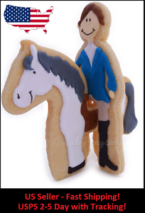 Horse-and-Rider-Two-Part-Unique-3D-Novelty-Cookie-and-Fondant-Cutter