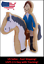 Horse-and-Rider-Two-Part-Unique-3D-Novelty-Cookie-and-Fondant-Cutter thumbnail 1