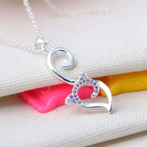 925 Sterling Silver Plated Zircon Pendant Plus Chain Wholesale #9