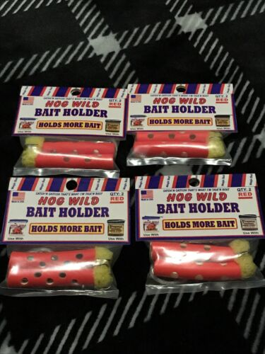 Magic Bait Hog Wild Bait Holder Red 4-Packs Of 2-Count Packages NIP