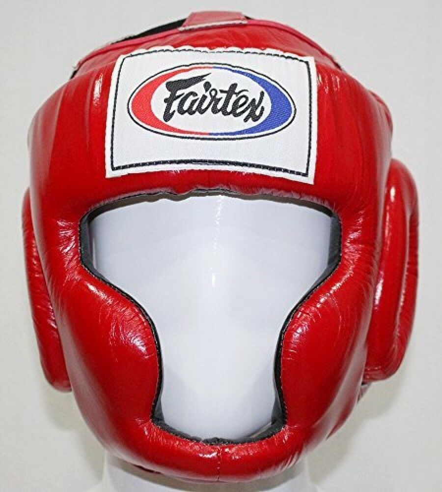 New Fairtex hg 3 full cover style head guard - Predective Boxing Red Japan