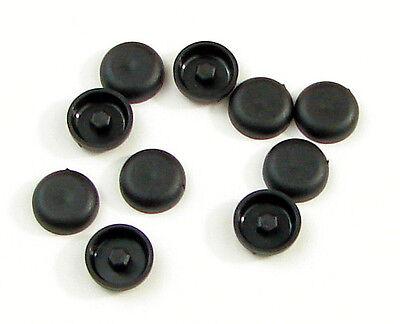 Locking Hole Plug Cap Black Hard Plastic Nylon Panel Sheet Metal Auto 10 Pack