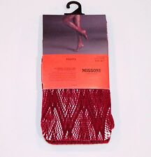 MISSONI for TARGET Fishnet OPENWORK Pantyhose TIGHTS Shiny M/T ROSE WINE
