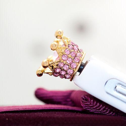 Anti Dust Plug Corona de Diamantes de Imitación para teléfonos iPhone iPad de descuento de Navidad Regalo
