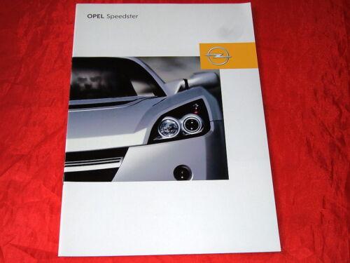 OPEL Speedster Prospekt von 2002