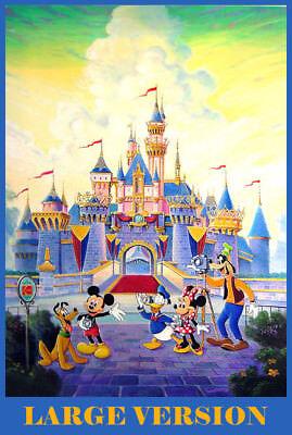 Art Of Disney Walt /& Mickey Walts Vision Disneyland Walt Disney World Postcard