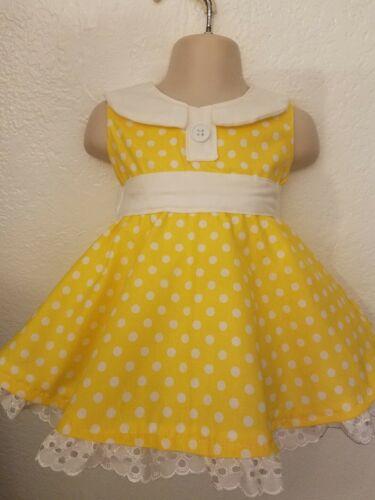 #23 Custom Handmade Disney Toy Story Yellow Gabby Gabby costume Dress 6mo-8Y