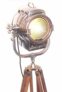 1930-039-S-VINTAGE-HOLLYWOOD-FILM-STUDIO-SPOT-LIGHT-MOVIE-THEATRE-ANTIQUE-FLOOR-LAMP