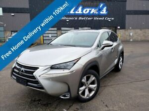 2017 Lexus NX 200t Executive AWD, Head Up Display, Navi, Wireless Charging, Lexus Safety System, Heated + Cooled Seats
