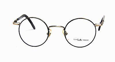 Club La 57 Einzigartig Klassisch Rund 44mm Metall Brille Italien 1990s