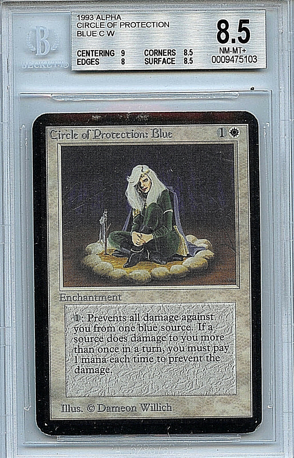 MTG Alpha Circle of Predection bluee BGS 8.5 NM-MT+ NM-MT+ NM-MT+ card Magic the Gathering 5103 83d546