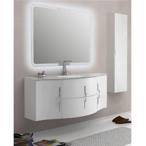 Mobile arredo per bagno 138 cm con lavabo 4 colori for Arredo bagno componibile