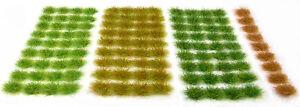 Grass-set-2-Tufts-x117-sheet-Self-adhesive-static-model-railway-scenery