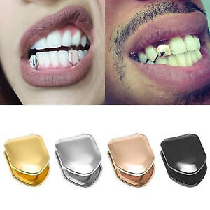 Gold Single Grill Tooth Clip Plated Mouth Teeth Cap Grills Bling ... 3e73798580