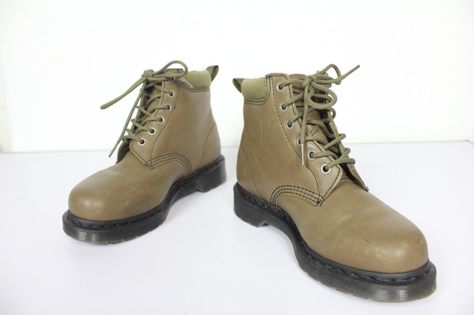 Dr. Martens rarezas Model invierno botas botas botas cuero genuino Olive verde eu 38-uk 5-wie nuevo e718f8