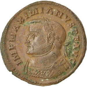 8.30 Bright In Colour Maximianus Cohen #161 Au 50-53 Copper #66891 Follis
