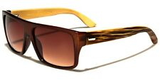 54d371c06d4 Brown REAL Wood Men Women Vintage 80 s Retro Sunglasses Wooden Glasses x1