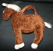 North American Handbag Horse Purse Plush Stuffed Animal Brown Girls Blaze Pinto