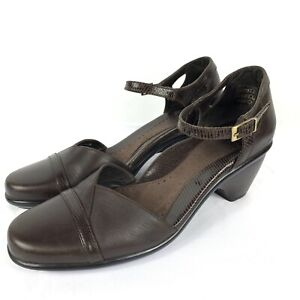 657bbc0f7e9 Dansko Womens 8.5 - 9 Roxy Ankle Strap Pumps Heels Shoes Brown Size ...