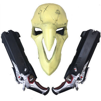 Overwatch Reaper Mask /& Guns Cosplay NEW!! 2 USA Sellers