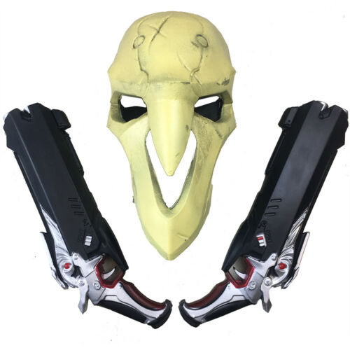 2 USA Sellers Guns Cosplay NEW!! Overwatch Reaper Mask /&