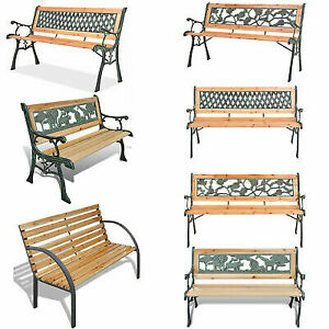Super Details About 3 Seater Outdoor Wooden Garden Bench Cast Iron Legs Park Seat Furniture Chair Us Inzonedesignstudio Interior Chair Design Inzonedesignstudiocom