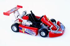 "GO-KART Welly Racing Kart, die-cast, 1:16 scale 5"" L, pull-back motor, Red-4"