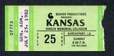 1982 Kansas Concert Ticket Stub Shreveport LA Dust In The Wind Leftoverture