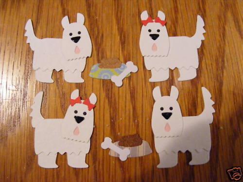 Westie Westies West Highland Para Perros Cachorros Caminar Cachorro dado corta
