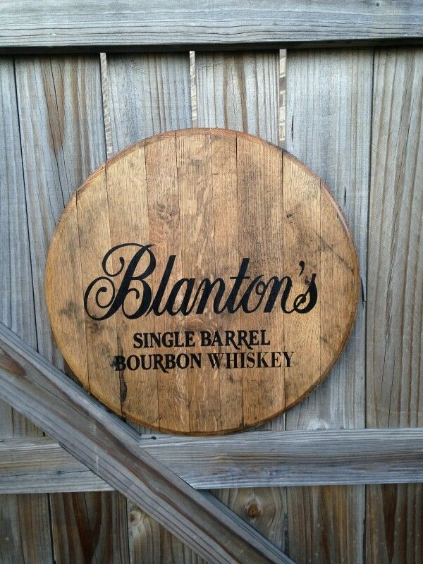 Blantons Bourbon Whiskey Barrel Top