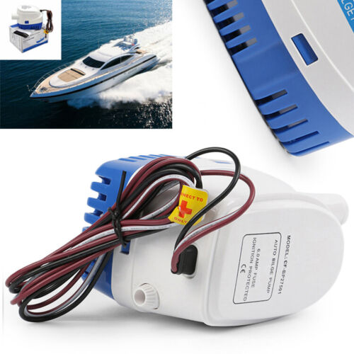 Automatic 750GPH 24V Submersible Bilge Water Boat Water Pump Float Switch tb
