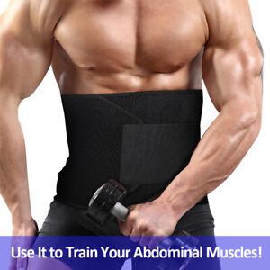 Mens Waist Trimmer Belt Sweat Wrap Tummy Stomach Weight Loss Fat Burner Slimming