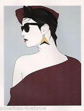 Retro 80s Patrick Nagel Playboy Art Poster Print Art Deco Pinup Glamour Girl