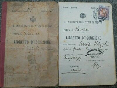 1922 Booklet University' Arrigo Usgli Signed From Great Mathematicians Of The' Other Militaria