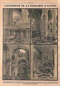 Ruines-Basilique-Notre-Dame-de-Brebieres-d-039-Albert-Bataille-de-la-Somme-WWI-1915