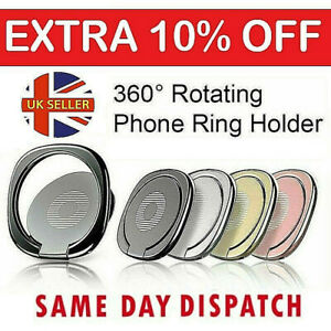 Phone Ring Holder Finger Grip 360° Rotate Stand Mount for Mobile Phones