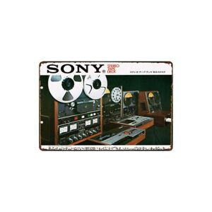 Metal-Tin-Sign-sony-stereo-tape-deck-Bar-Pub-Home-Vintage-Retro-Poster-Cafe