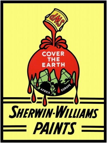 """SHERWIN WILLIAMS PAINTS  9/"""" x 12/"""" Sign"""