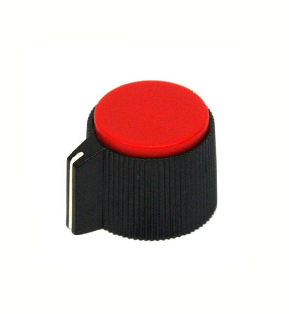 10pc Plastic Round Screw type Knob RN-118F h=φ6.4mm Size=φ13.2x15.1mm Black RoHS